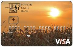 Fowler State Bank Visa Credit Card Sample 1