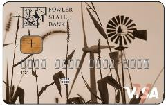 Fowler State Bank Visa Credit Card Sample 2